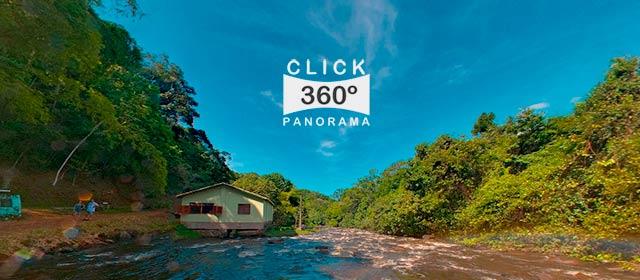 Foto 360 graus na Cachoeira Pancada Grande, em reserva ambiental no sul da Bahia em foto 360 graus do AYRTON especialista e pioneiro no Brasil da técnica de fotografia panoramica imersiva