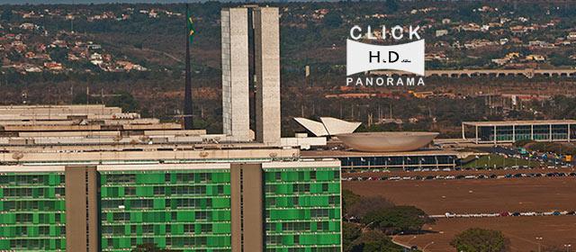 Click na imagem e aprecie a vista panoramica da Esplanada dos Ministerios, Brasilia, Distrito Federal em HD, high definition, em gigafoto do AYRTON, especialista e pioneiro no Brasil da tecnica de fotografia panoramica imersiva e de Little Planets