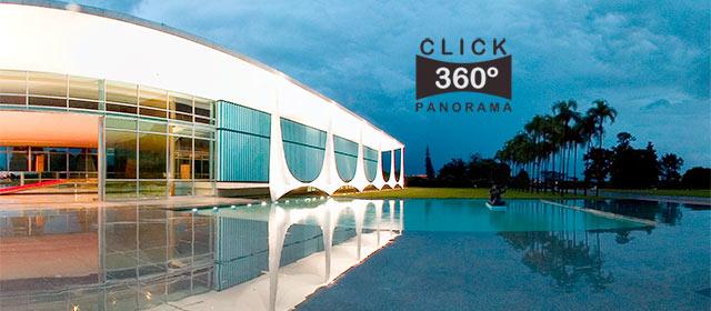Click nesta foto 360 graus para visualizar a fachada do Palácio da Alvorada em foto 360 graus do AYRTON especialista e pioneiro no Brasil da tecnica de fotografia panoramica imersiva