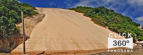 Click nesta foto 360 graus para visualizar o Morro do Careca em Natal a capital do Rio gGrande do Norte em foto 360 graus do AYRTON especialista e pioneiro no Brasil da tecnica de fotografia panoramica imersiva