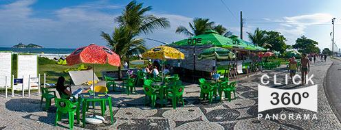 Ponto do Kitesrufe na Praia do Pepe, Barra da Tijuca, local de encontro dos amantes do esporte