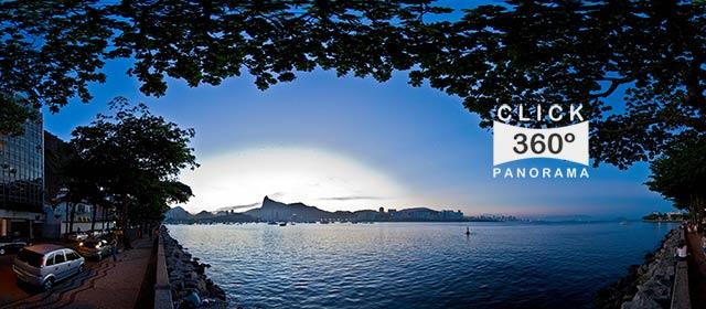 Click nesta foto 360 graus para visualizar o entardecer na Urca em foto 360 graus do AYRTON especialista e pioneiro no Brasil da tecnica de fotografia panoramica imersiva
