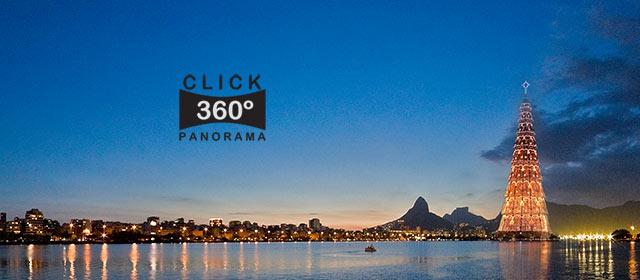 Click nesta foto 360 graus para visualizar a Arvore de Natal da Lagoa Rodrigo de Freitas no Rio de Janeiro em foto 360 graus do AYRTON especialista e pioneiro no Brasil da tecnica de fotografia panoramica imersiva