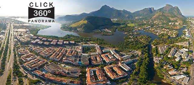 Click nesta foto 360 graus aerea para visualizar o shopping Downtown na Barra da Tijuca em foto 360 graus do AYRTON especialista e pioneiro no Brasil da tecnica de fotografia panoramica imersiva