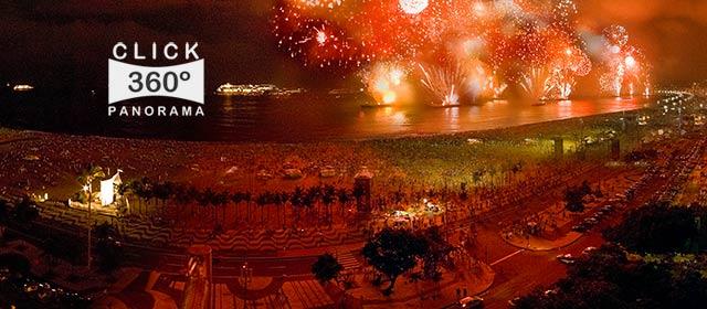 Click nesta foto 360 graus para visualizar o Reveillon de 2010 na Praia de Copacabana em foto 360 graus do AYRTON especialista e pioneiro no Brasil da tecnica de fotografia panoramica imersiva