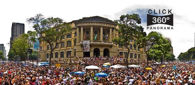 Click nesta foto 360 graus para ver o bloco carnavalesco Cordão da Bola Preta em  foto 360 graus do AYRTON especialista e pioneiro no Brasil da tecnica de fotografia panoramica imersiva
