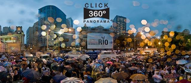 Click nesta foto 360 graus para visualizar a manifestação pelo petróleo do RIO em foto 360 graus do AYRTON especialista e pioneiro no Brasil da tecnica de fotografia panoramica imersiva