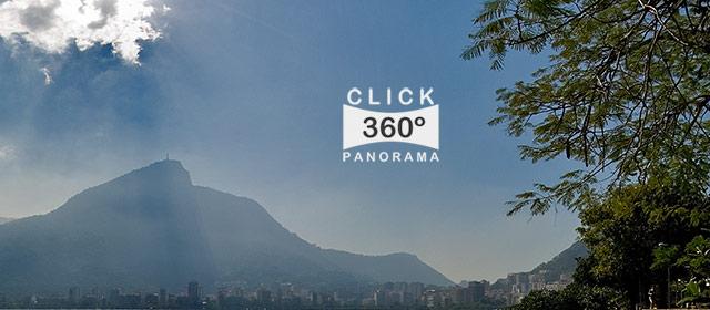 Click aqui em cima desta imagem panoramica para visualizar a Lagoa Rodrigo de Freitas no Rio de Janeiro, em foto 360 graus do AYRTON especialista e pioneiro no Brasil da tecnica de fotografia panoramica imersiva