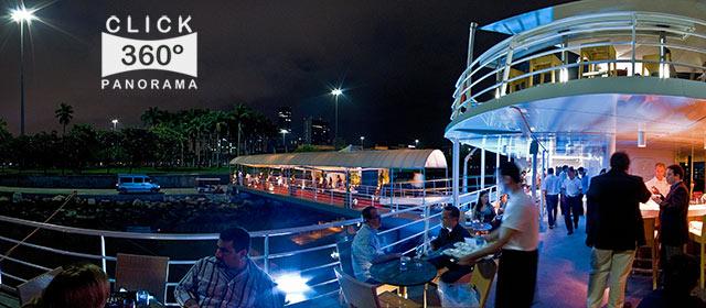 Click aqui em cima desta imagem panoramica para visualizar a o visual deslumbrante do Navio Pink Fleet acolhendo a festa de lançamento da Revista Inesquecível Casamento, em foto 360 graus do AYRTON especialista e pioneiro no Brasil da tecnica de fotografia panoramica imersiva
