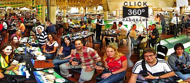 Click aqui em cima desta imagem panoramica para visualizar a confraternização dos alunos da aula prática da Scuola Riguardare, em foto 360 graus do AYRTON especialista e pioneiro no Brasil da tecnica de fotografia panoramica imersiva