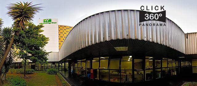 Click na imagem e veja os jardins internos da SP Turis, no Hotel Holyday Inn Parque Anhembi, Sao Paulo, em foto 360 graus do AYRTON, especialista e pioneiro no Brasil da tecnica de fotografia panoramica imersiva e de Little Planets