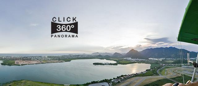 Click na imagem e curta voar sobre o Rio de Janeiro, na Barra da Tijuca nesta foto 360 graus panoramica do AYRTON, especialista e pioneiro no Brasil da tecnica de fotografia Panoramica Imersiva, Gigafotos e de Little Planets