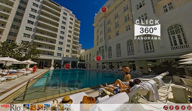 Click na foto para fazer um Tour Virtual 360 graus no espetacular Hotel Copacabana Palace no Rio de Janeiro, documentado pelo fotografo AYRTON360, um especialista em fotos 360 graus, e pioneiro no Brasil da tecnica de fotografia Panoramica Imersiva full-screen, Gigafotos, Panoramas 360 e Little Planets