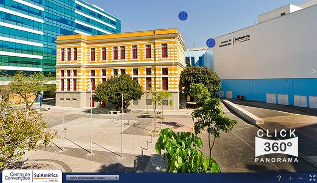 Click na foto para fazer um Tour Virtual fotos 360 graus ao ambientes e instalações do CCSA, ou Centro de Convenções SulAmérica, documentado pelo fotografo AYRTON360, um especialista em fotos e videos 360 graus, e pioneiro no Brasil da tecnica de fotografia Panoramica Imersiva full-screen, Gigafotos, Tour Virtuais, Panoramas 360 e Little Planets