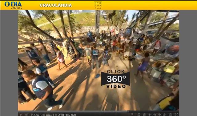 Click na imagem para fazer uma Visita Virtual na Cracolândia, neste vídeo 360 graus do AYRTON360, especialista e pioneiro no Brasil da tecnica de fotografia Panoramica Imersiva, Gigafotos e de Little Planets