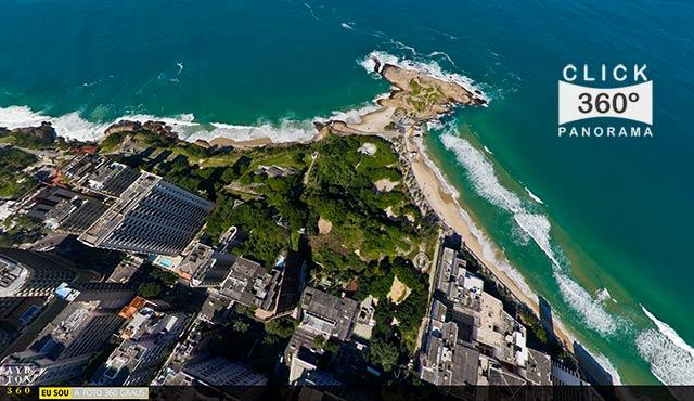 Click na imagem e veja o esplendor de estar por cima do Arpoador e a Cidade Maravilhosa, nesta foto 360 graus aérea do AYRTON360, especialista e pioneiro no Brasil da tecnica de Fotografia Panoramica Imersiva, Videos 360 graus, Gigafotos e de Little Planets