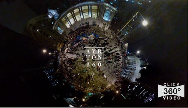 Click na foto e tenha a sensação de estar no meio da manifestação dos professores na Cinelandia em 1º de outubro de 2013, neste video 360 graus do AYRTON360, especialista e pioneiro no Brasil da tecnica de fotografia Panoramica Imersiva, Gigafotos e de Little Planets