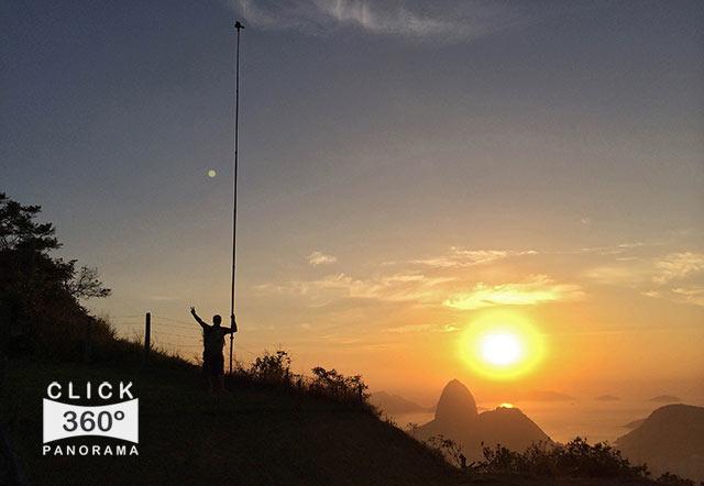 Click na foto e veja o nascer do sol na Cidade Maravilhosas, nesta foto 360 graus do AYRTON360, especialista e pioneiro no Brasil da tecnica de Videos e Fotos Imersivos, Gigafotos e Little Planets