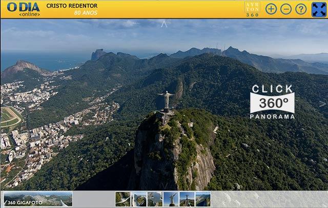 Click na foto e faça um Tour Virtual ao Cristo Redentor, nestas fotos 360 graus do AYRTON360, especialista e pioneiro no Brasil da tecnica de Videos e Fotos Imersivos, Gigafotos e Little Planets